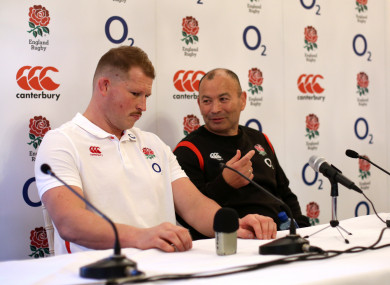 Hartley and Jones at today's media briefing.
