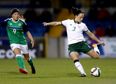 Campbell (right) in action during the Republic of Ireland's win over Northern Ireland in September.