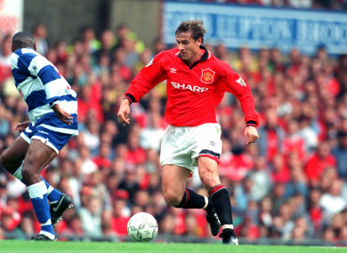 Man United's Andrei Kanchelskis pictured playing against QPR in 1994.