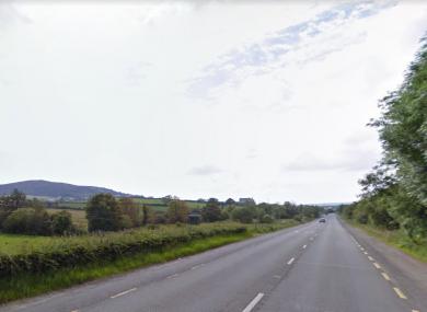 The area near where the crash took place, near Burnfoot.