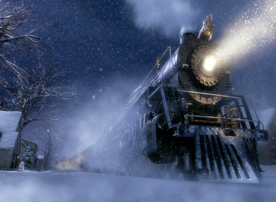 A scene from the film The Polar Express.