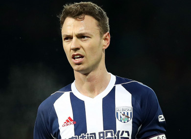 West Brom defender Jonny Evans.