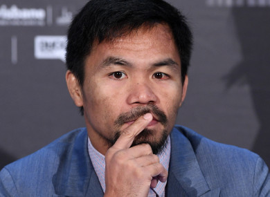 Manny Pacquiao (file pic).