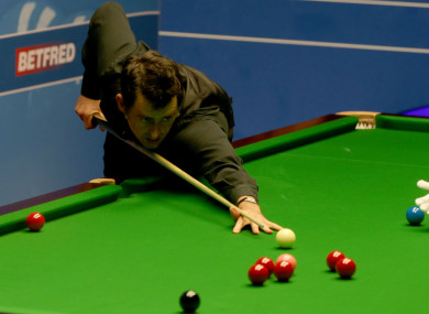Ronnie O'Sullivan at the UK Championship.