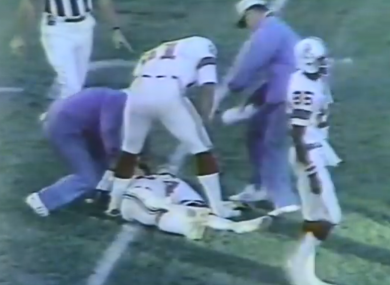 The moment Darryl Stingley's life changed forever.