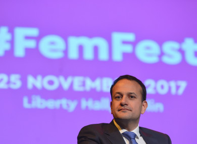 Leo Varadkar at the opening of #FemFest 2017, a conference for young women aged 16-25.