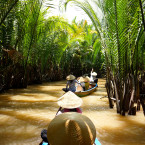 There are countless ways to experience the arching palms, floating markets, and biodiversity of the Mekong river, which connects six countries.<span class=