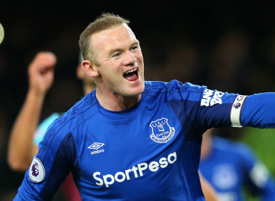 Everton striker Wayne Rooney.