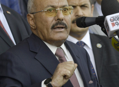 File photo of ex-president Ali Abdullah Saleh who is reported to have been killed today.