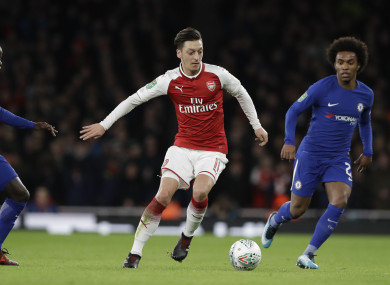 Ozil was expected to leave in the summer.