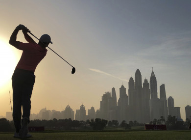 McIlroy is three shots off the lead with seven holes of his second round to go.