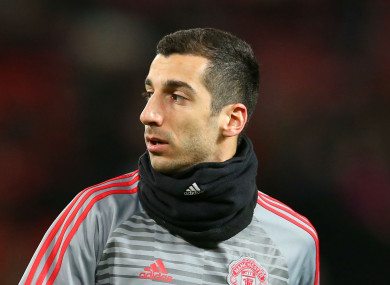 Henrikh Mkhitaryan has struggled for game time at Man United lately.