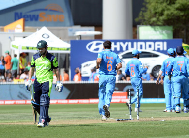 Ireland played India at the 2015 World Cup.