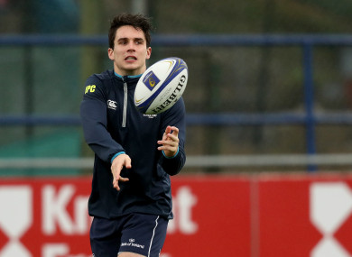 Joey Carbery returned to full-contact training with Leinster yesterday.