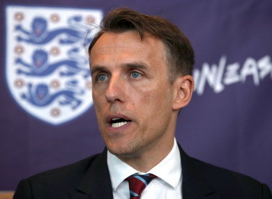 Neville spoke to the media today.