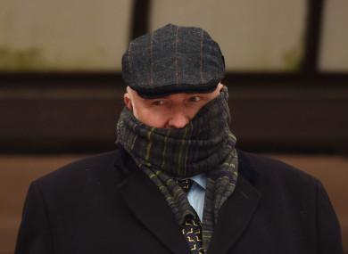 Specialist surgeon Simon Bramhall leaves court today.