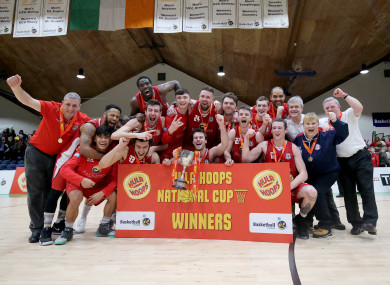 Templeogue celebrate after the game.