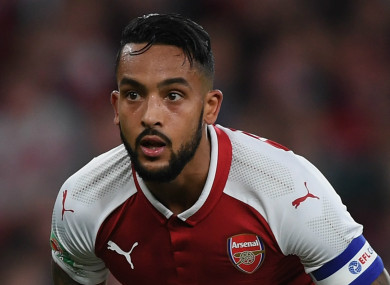 Walcott has been with Arsenal since joining from Southampton in 2006.