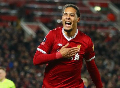 Van Dijk is the most expensive defender in world football.