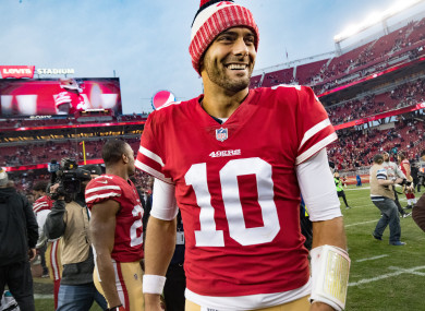 former patriots backup quarterback jimmy garoppolo signs record deal