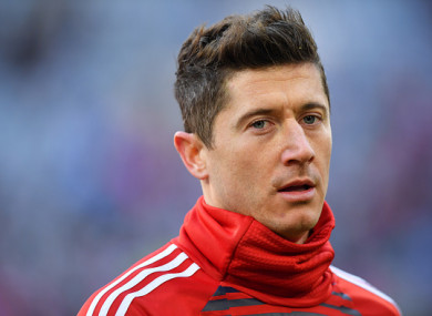 Robert Lewandowski is believed to have been involved in a heated argument with Mats Hummels.