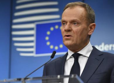 European Council President Donald Tusk.