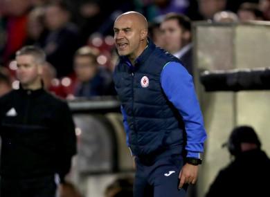 Sligo Rovers manager Gerard Lyttle.