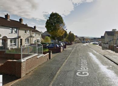Glenbawn Avenue in west Belfast.