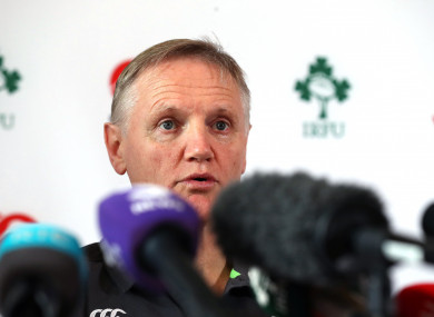 Schmidt speaking at today's press conference at Carton House.