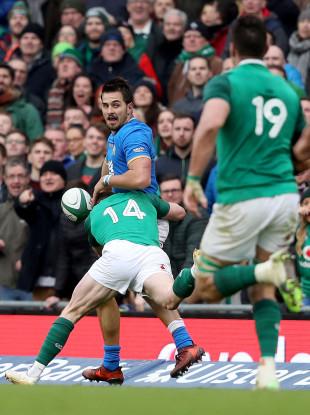 Keith Earls try-saving tackle