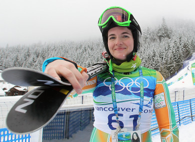 Ireland's Kirsten McGarry pictured during the 2010 Winter Olympics.