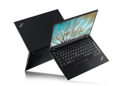 A Lenovo ThinkPad X1 Carbon laptop (7th Generation).