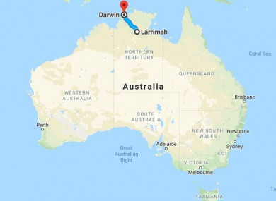 Map Of South Australia And Northern Territory.Unlikely That Irish Man Missing In Australia Will Be Found Alive