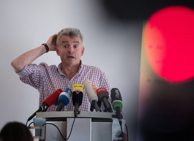 Ryanair CEO Michael O'Leary in August 2017.