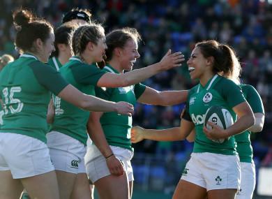 Ireland ran in five tries yesterday.