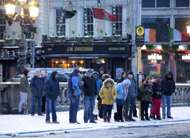 For safety reasons, Dublin Bus has cancelled its services for tonight.