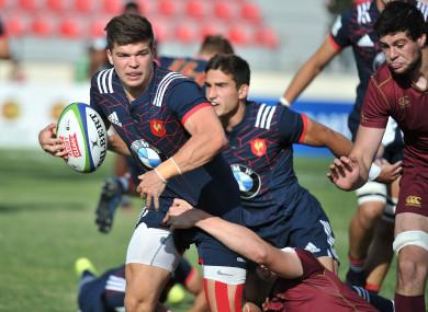 Jalibert playing with the France U20s last season.