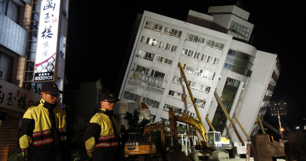 'We could hear his phone ringing' - Taiwanese rescuers brave leaning building collapse amid quake aftershocks