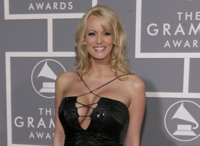 Stormy Daniels arrives for the 49th Annual Grammy Awards on Sunday, Feb. 11, 2007.