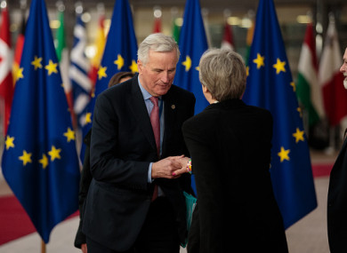 EU chief negotiator Michel Barnier and British Prime Minister Theresa May