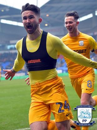 Maguire scored twice for Preston on Saturday.