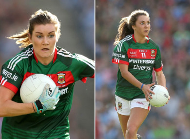 Grace and Niamh Kelly will play against one another tomorrow.