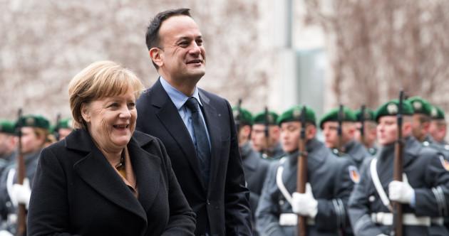 All smiles as Varadkar and Merkel talk Brexit on Taoiseach's first trip to Berlin