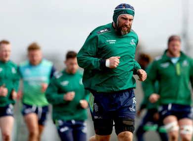 John Muldoon captains Connacht at the Sportsground this afternoon.