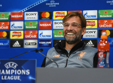 Klopp was in good form at today's press conference at Anfield.