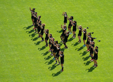 The New Zealand team perfom the 'Haka' (file pic).