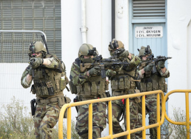 Members of the Defence Forces taking part in an exercise last December which focused on how to respond to a major terrorist attack