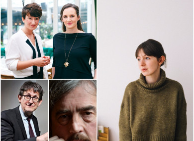 Top L-R: Tramp Press; Sally Rooney.