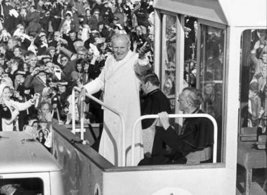 Pope John Paul II in the Phoenix Park in September 1979