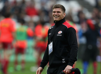 Farrell sat out Sarries' win over Harlequins yesterday.